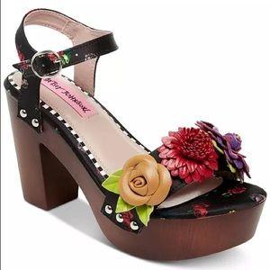Betsey Johnson Rosee Clog Sandals